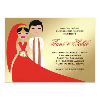 311 Indian Bride Groom Bindi Invitation
