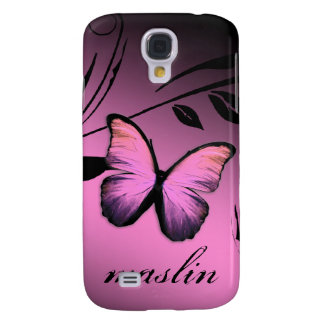 311 iPhone 3 Lustrous Butterfly Pink Pout Samsung Galaxy S4 Case