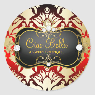 311 Jet Black Ciao Bella Cherry Sass Classic Round Sticker