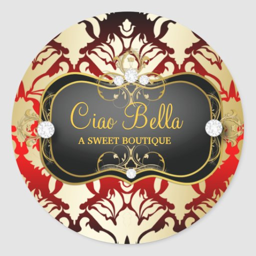 311 Jet Black Ciao Bella Cherry Sass Sticker