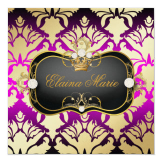 311 Jet Black Ciao Bella Pink Sass Metallic Gold Card