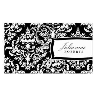 311-Julianna Day n' Night Damask Business Card Templates