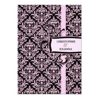 311-Julianna Pink Liquorice Damask Card