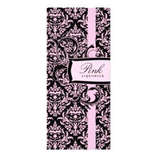 311 Julianna Pink Liquorice Damask Rack Card