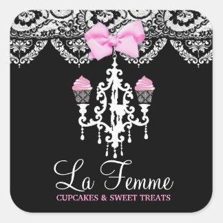 311 La Femme Cakes Black Square Sticker