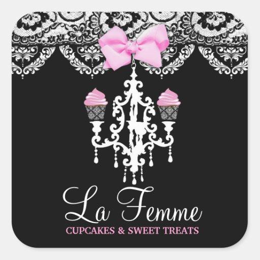 311 La Femme Cakes Black Sticker