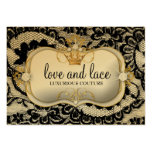 311 Lace de Luxe - Ciao Bella Metallic Gold Business Cards