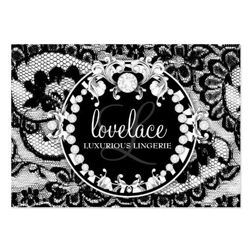 311-Lace de Luxe Circque D' Zebra Business Card Template