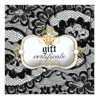 311 Lace De Luxe Gift Certificate 13 Cm X 13 Cm Square Invitation Card