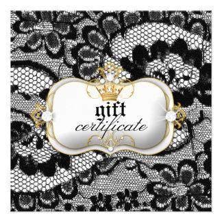 311 Lace De Luxe Gift Certificate Invitations