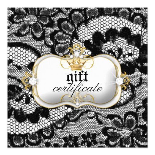 311 Lace De Luxe Gift Certificate Invitations