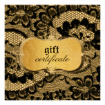 311 Lace De Luxe Gold Gift Certificate Invitation