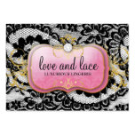 311 Lace de Luxe Lavish Pink Plate Pack Of Chubby Business Cards