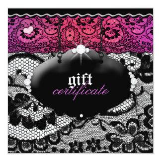 311-Lace De Luxe - Multi-Coloured Gift Certificate 13 Cm X 13 Cm Square Invitation Card