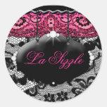 311-Lace de Luxe Pink Diamond STicker