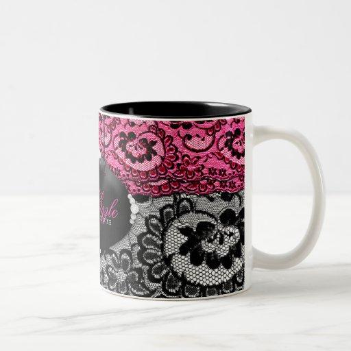 311-Lace De Luxe - Pink Diamonds Coffee Mug