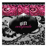 311-Lace De Luxe - Pink Gift Certificate Invites