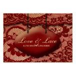 311-Lace de Luxe - Rouge Business Card Templates