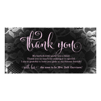 311 Lace Thank You Bridal Bachelorette Photo Cards