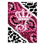 311-Lacy Leopard & Tiara Business Card Template