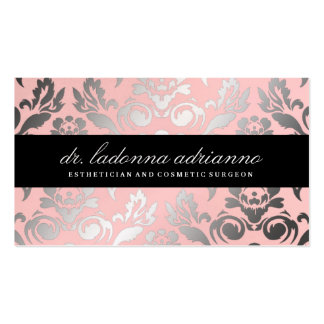 311 Ladonna Damask Powder Pink Business Card Templates