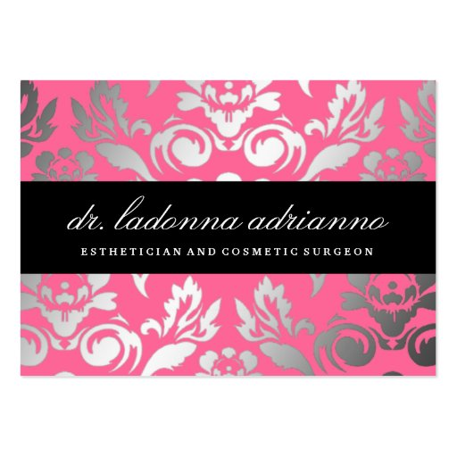 311 Ladonna Damask Rose Pink Business Card Templates