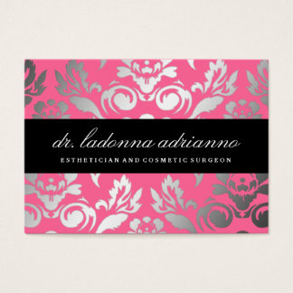 311 Ladonna Damask Rose Pink Business Card