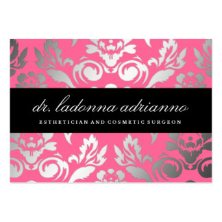 311 Ladonna Damask Rose Pink Pack Of Chubby Business Cards