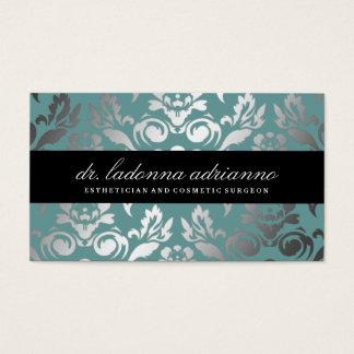 311 Ladonna Damask Teal Blue