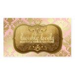 311 Lavish Golden Damask Shimmer Powder Pink Pack Of Standard Business Cards