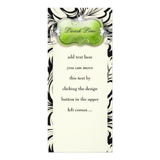 311 Lavish Lime Black Custom Rack Cards