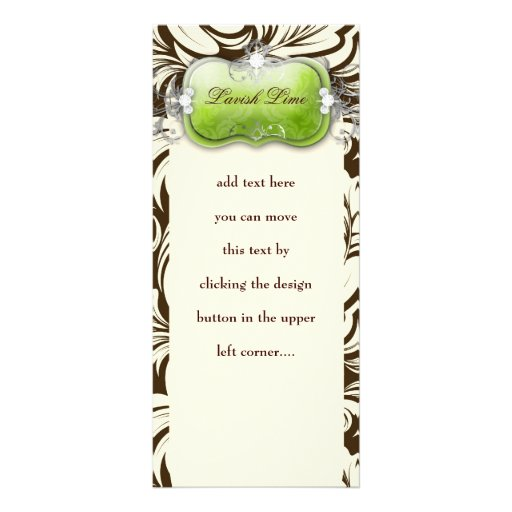 311 Lavish Lime Brown Personalized Rack Card