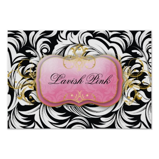 311-Lavish Pink Plate Poster
