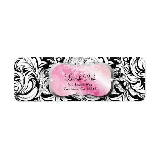 311 Lavish Pink Platter Return Address Label