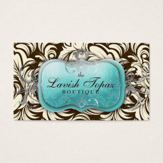 311 Lavish Topaz Brown & Cream Business Card