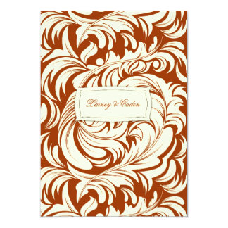 311-Lavishly Lainey Burnt Sienna Invitation