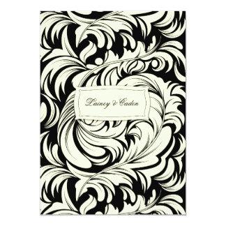 311-Lavishly Lainey Cream & Black Invitation