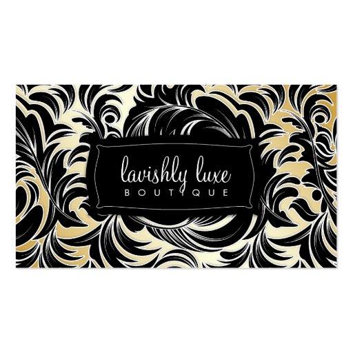 311 Lavishly Lainey White Trim Gold Business Card