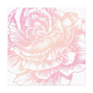 311 Le Plush Fleur Creamy Pink Canvas Print