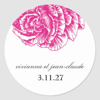 311-Le Plush Fleur - Hot Pink & Black Stickers