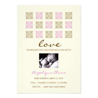 311 LEAF OF LOVE PINK AND GOLD GIRL ANNOUNCEMENT