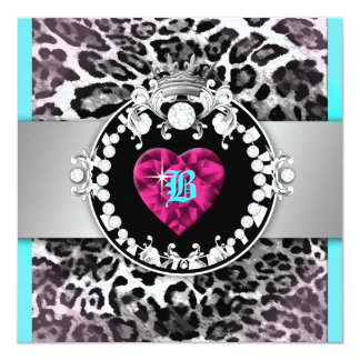 311-Leopard-Tique Queen of Hearts 21 Card