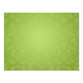 311-Lime Flame RSVP 11 Cm X 14 Cm Invitation Card