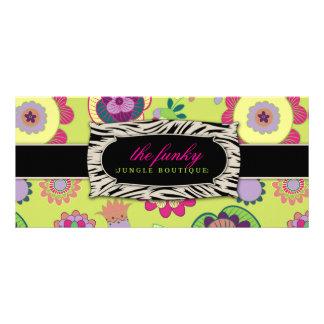 311 Lime Funky Jungle Gift Certificate Rack Card Design