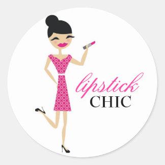 311 Lipstick Chic Round Sticker