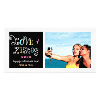 311-Love & Kisses Valentines Funky Card Photo Card