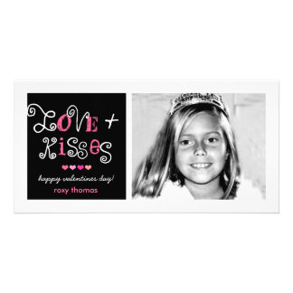 311-Love & Kisses Valentines Funky Card Photo Card Template