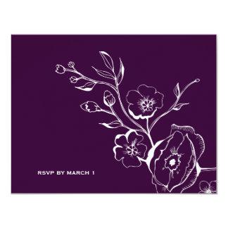 311-Lush Eggplant Purple RSVP Card