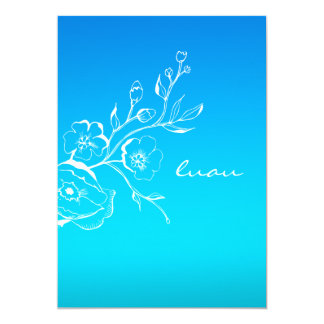 311-Lush Tropical Sunset Luau Card