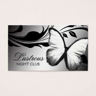 311 Lustrous Butterfly Black White Business Card